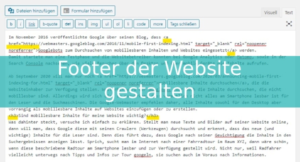 HTML Texteditor